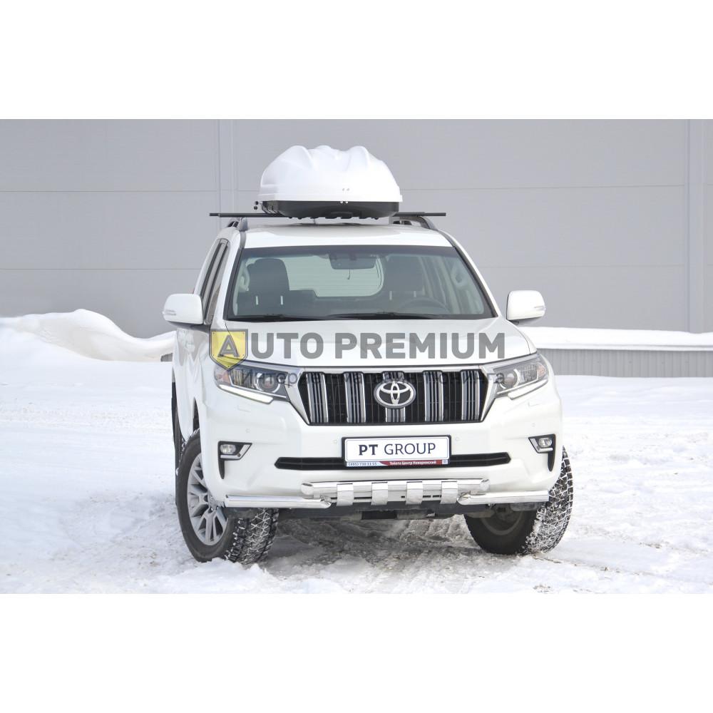Автобокс на крышу Белый Turino 1 (410 л) Аэродинамический
